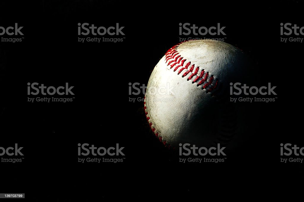 the light of baseball stock photo