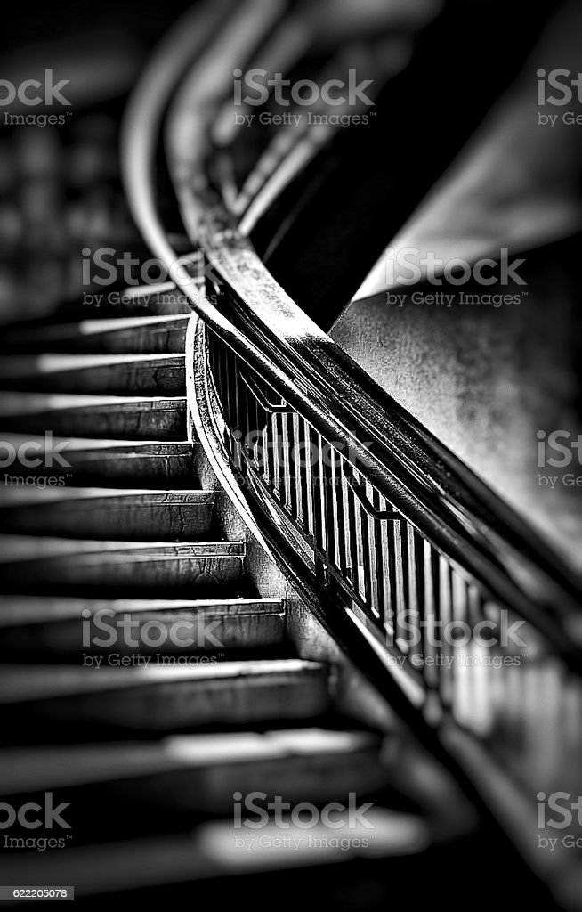 the light on the stairs stock photo