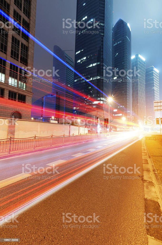 the light trails royalty-free stock photo