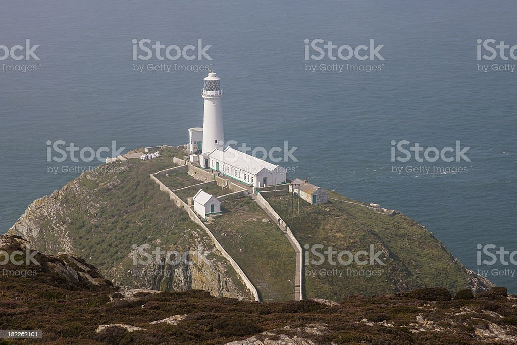 The Lighthouse at south stack royalty-free stock photo