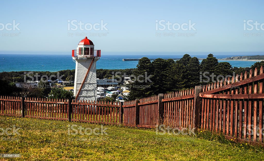 The lighthouse at Warrnambool. stock photo