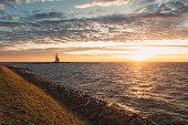 istock The lighthouse Het Paard van Marken on the island of Marken during sunrise 1292428155
