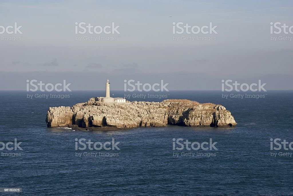 The lighthouse island royalty-free stock photo