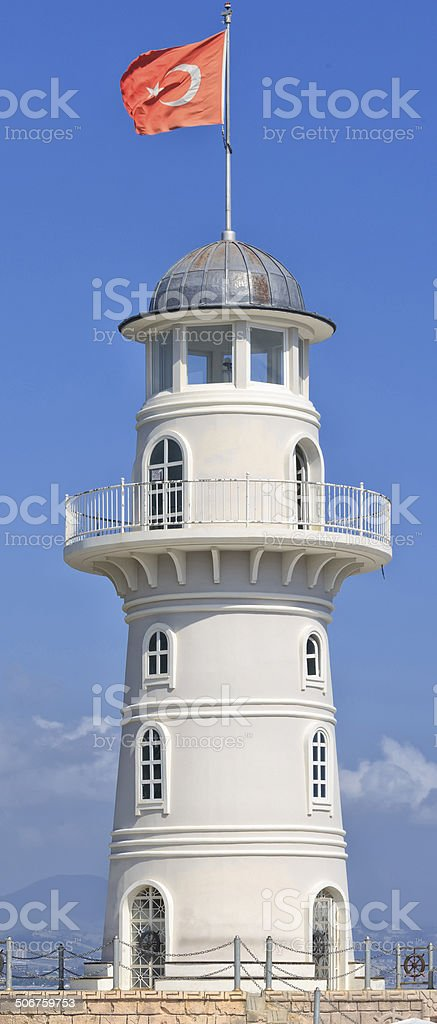The lighthouse of Alanya stok fotoğrafı
