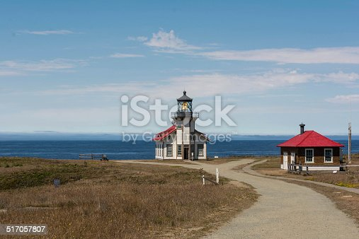 A view of the lighthouse of Fort Bragg, California