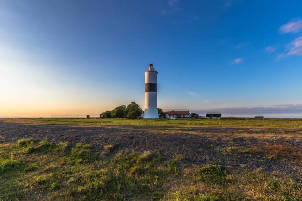 Öland, Schweden - 4. Juni 2016: Der Leuchtturm von Leuchtturmmuseum Jan in Öland, Schweden – Foto