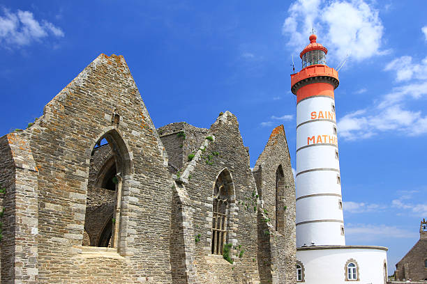 Der Leuchtturm Saint-Mathieu, Bretagne, Frankreich – Foto
