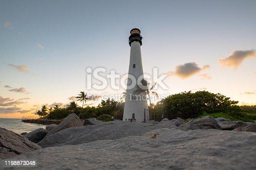 The lighthouse on Key west island Florida