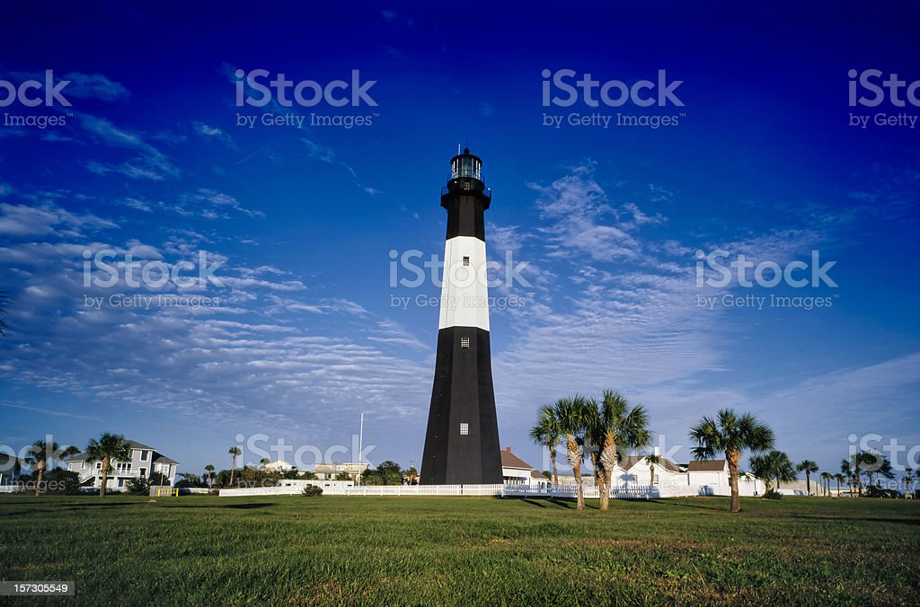 The lighthouse on tybee island royalty-free stock photo