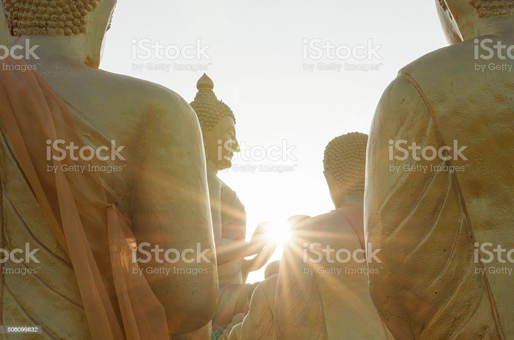The lighting power of lord buddha stock photo