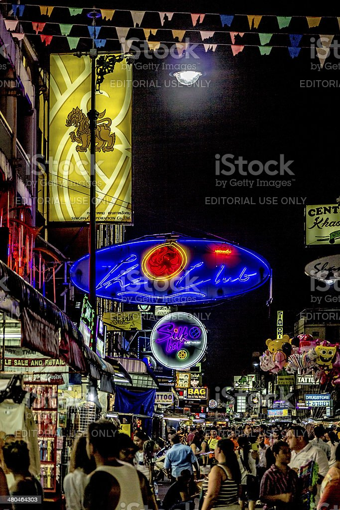 The Lights of Khaosan stock photo