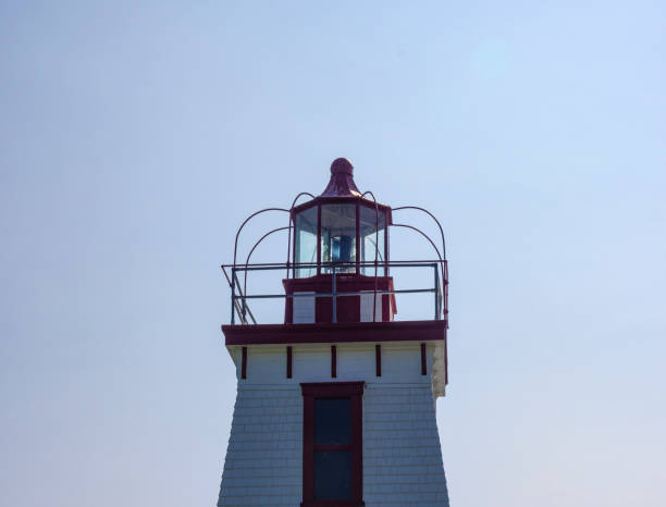 The lights of the lighthouse. stock photo