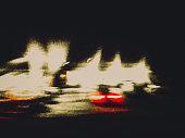 light, street, night, defocused, road, road movie,