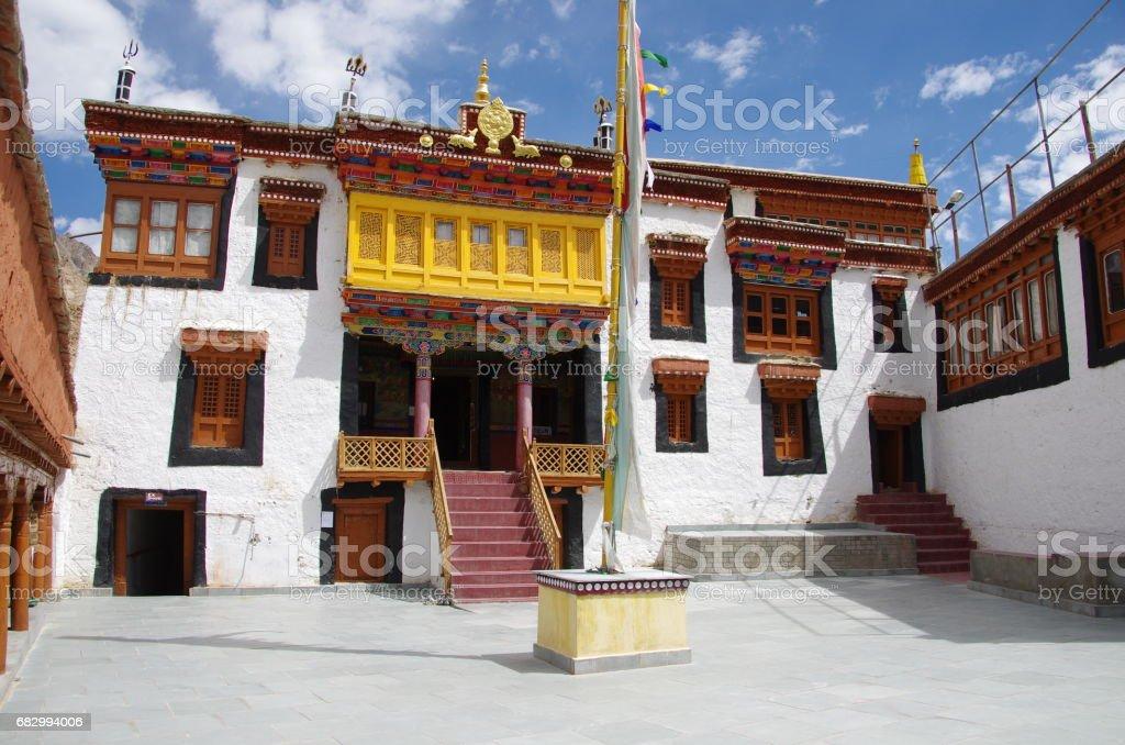 The Likir monastery in Ladakh, India foto de stock royalty-free