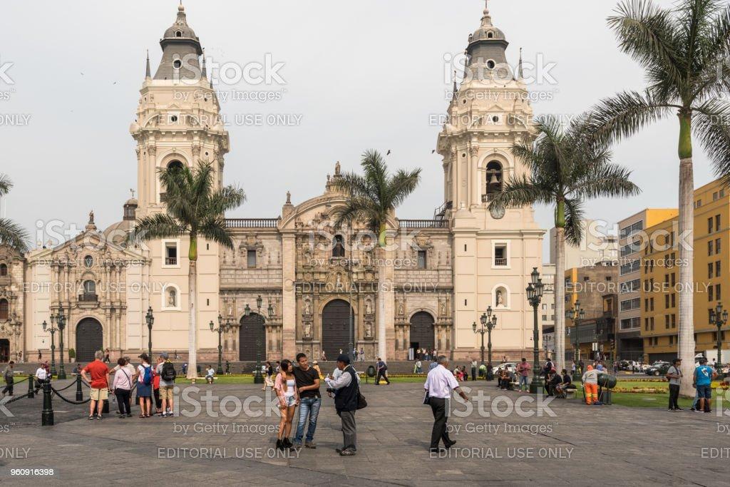 Die Kathedrale von Lima - Lizenzfrei Architektur Stock-Foto