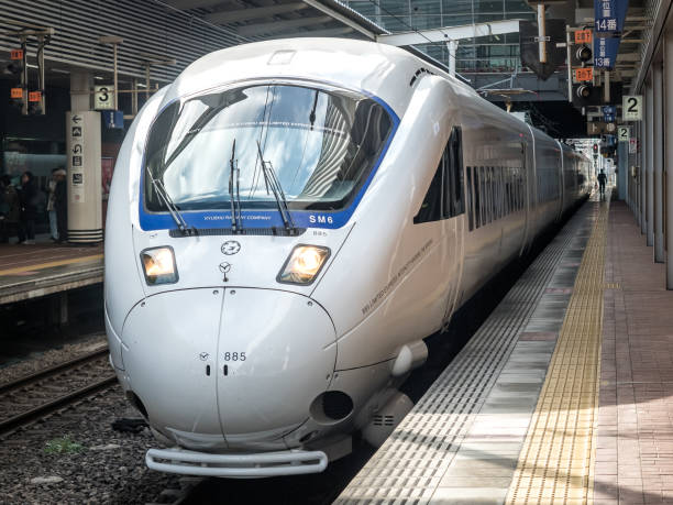 The Limited Express Kamome (885 Series) stock photo