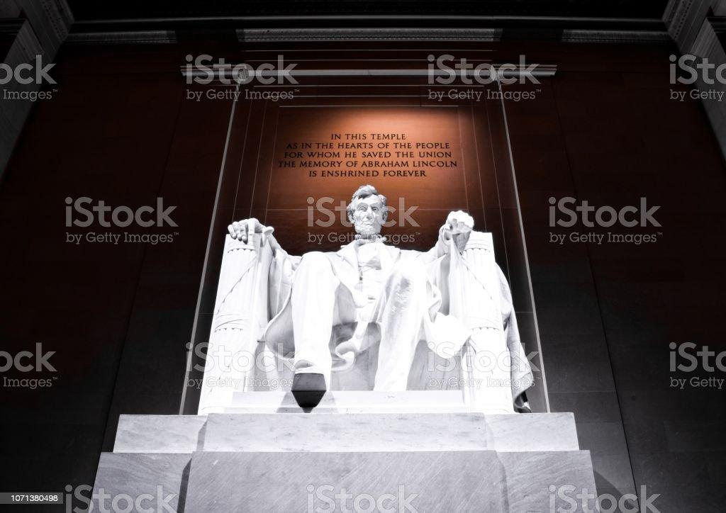 The Lincoln Memorial at Night, Washington, D.C. stock photo