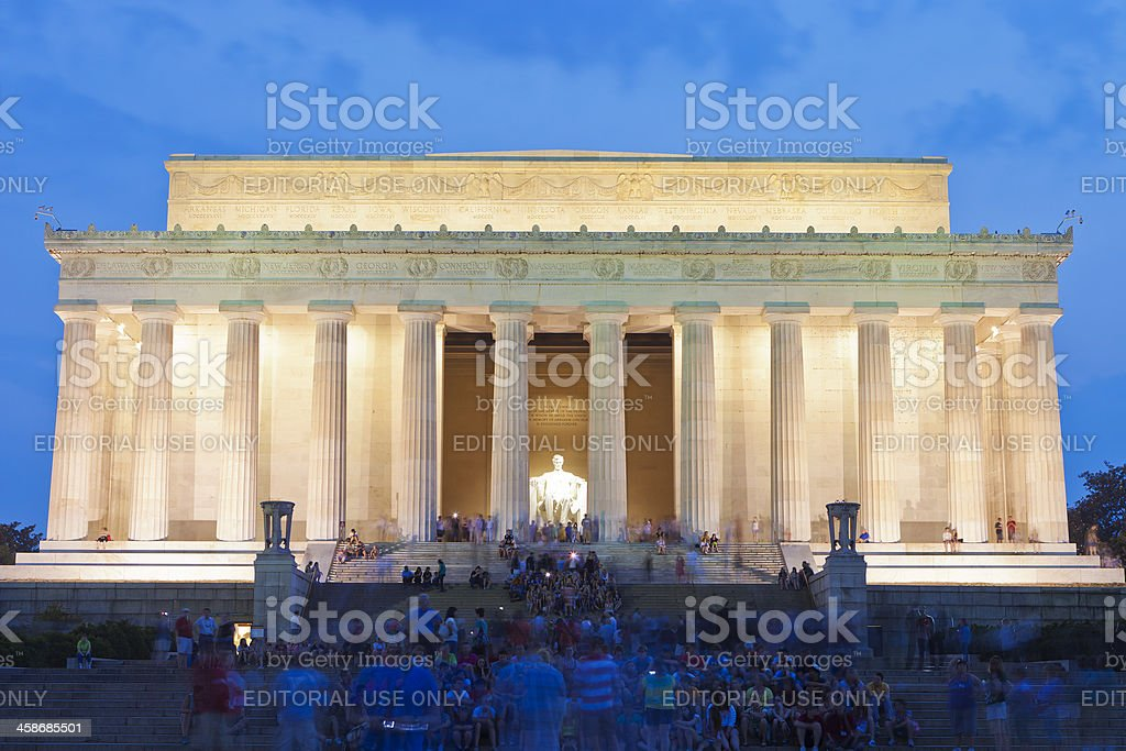 The Lincoln Memorial In Washington DC royalty-free stock photo