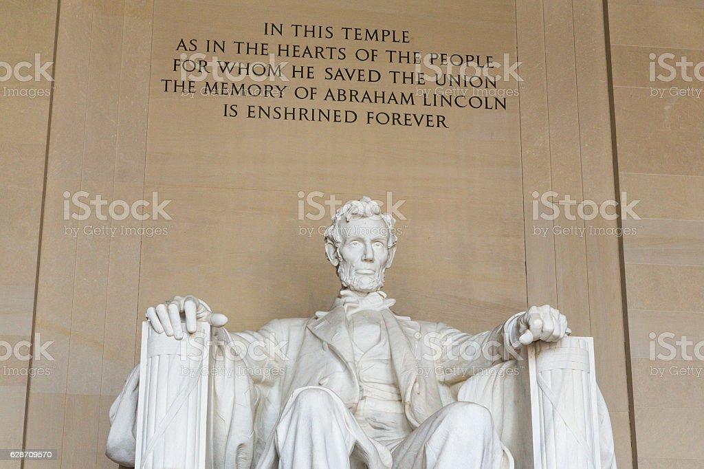 The Lincoln Memorial in Washington DC stock photo