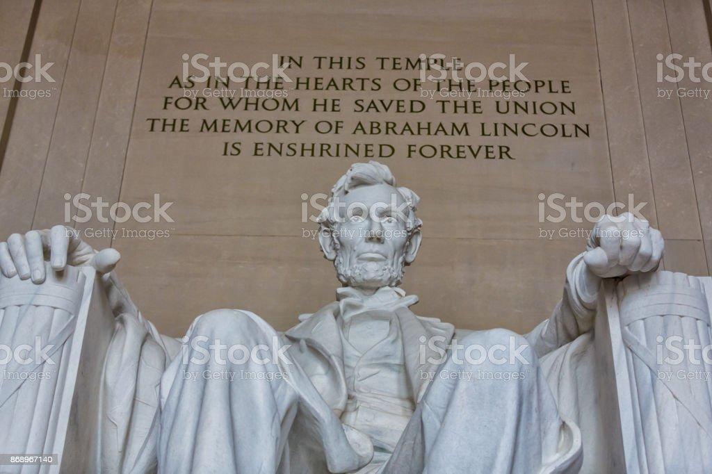 The Lincoln Memorial in Washington, DC stock photo