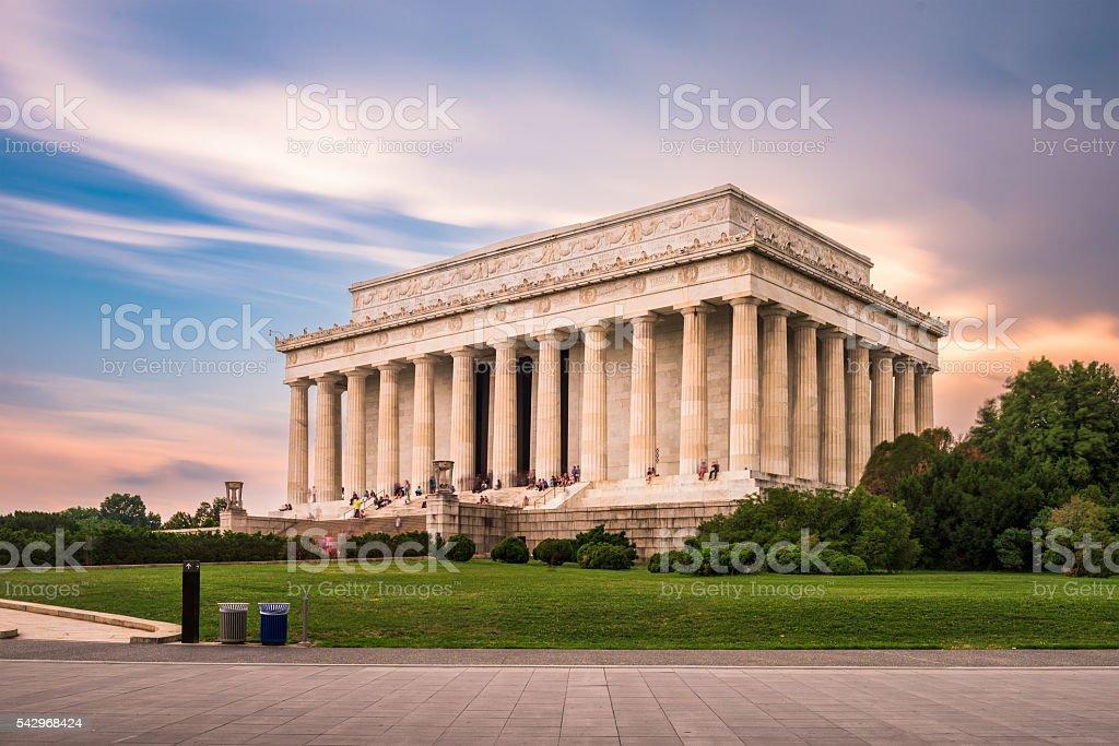 The Lincoln Memorial stock photo
