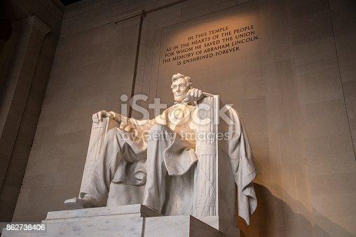 The Lincoln memorial, Washington DC, USA
