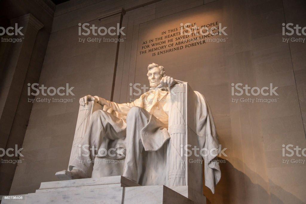 The Lincoln memorial, Washington DC stock photo