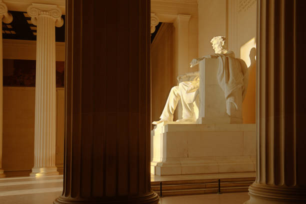 Das Lincoln Memorial mit Präsident Lincoln-Statue in Washington, D.C. – Foto