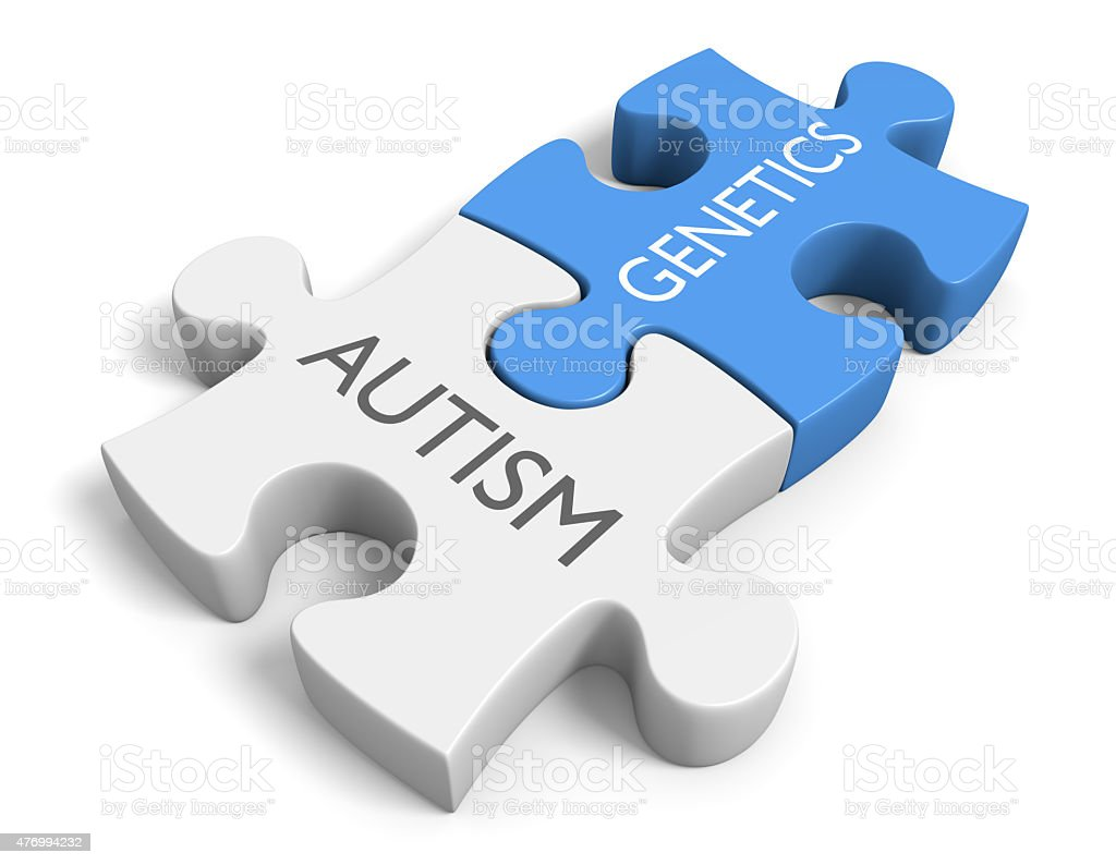 The link between genetics and the mental disorder autism stock photo
