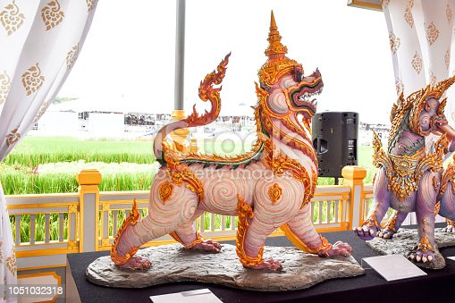 istock The Lion in the Fairy Tale of Asia 1051032318