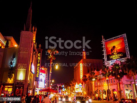 istock The Lion King advert on Hollywood Boulevard 1218634996