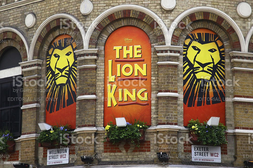The Lion King musical stock photo