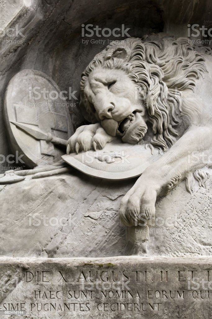 The Lion Monument, Lucerne, Switzerland stock photo