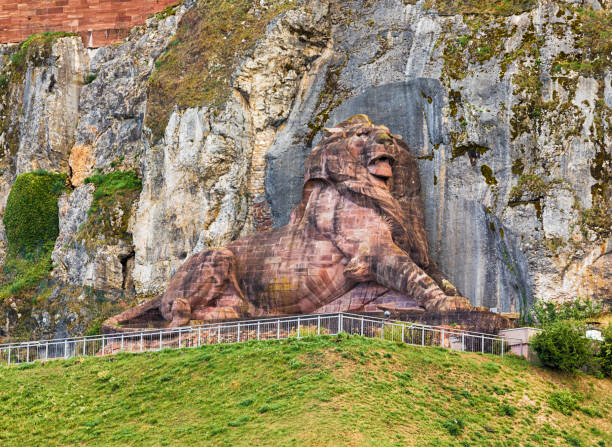 The Lion of Belfort, France stock photo