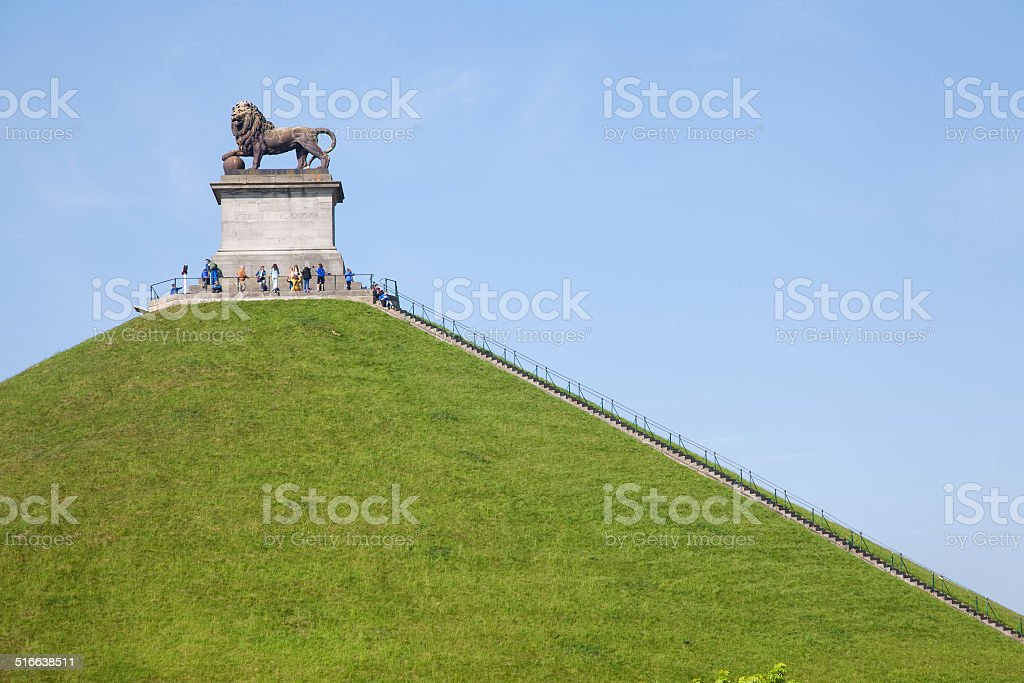 The Lion of Waterloo stock photo