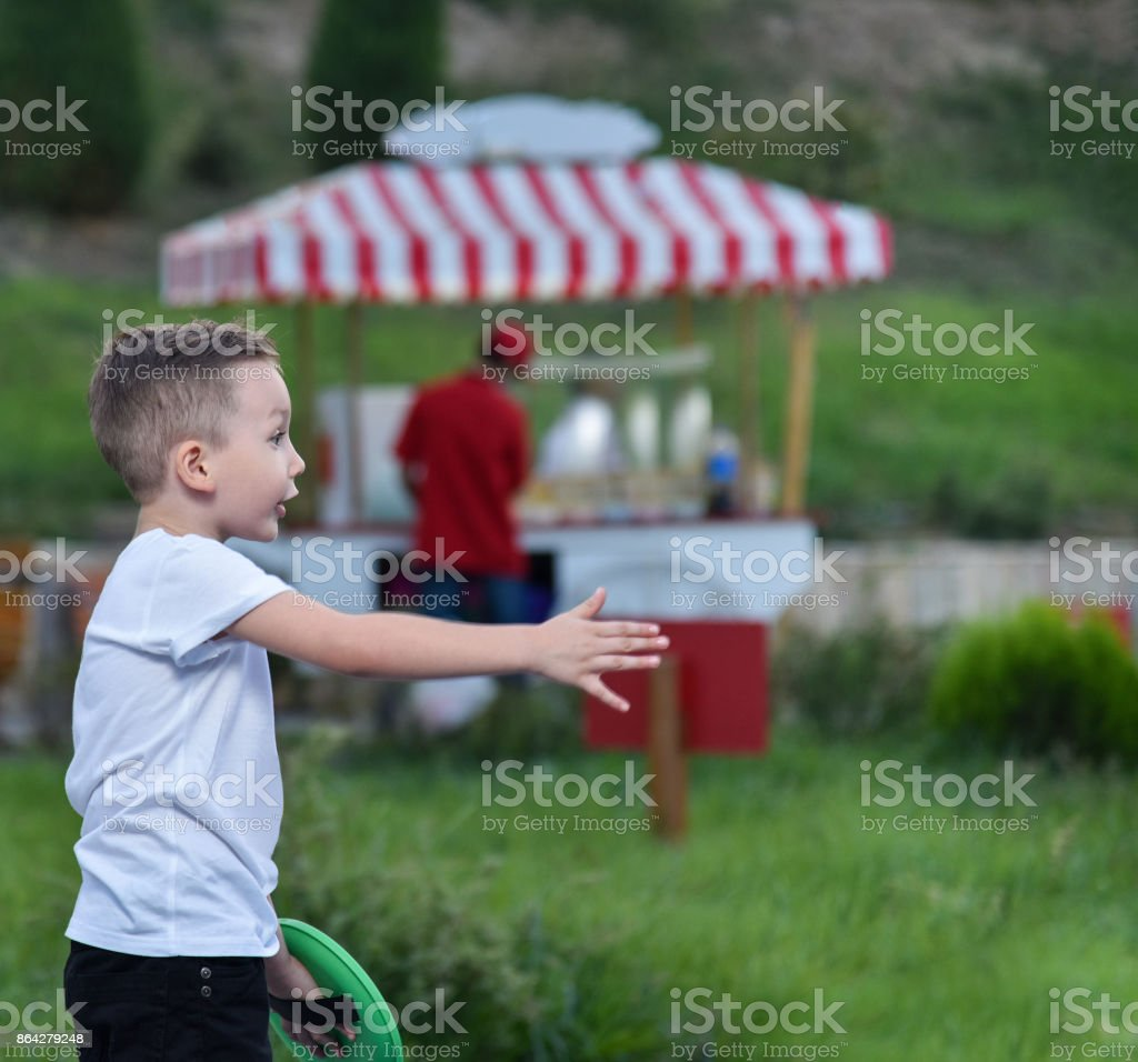 the little boy in the Park royalty-free stock photo