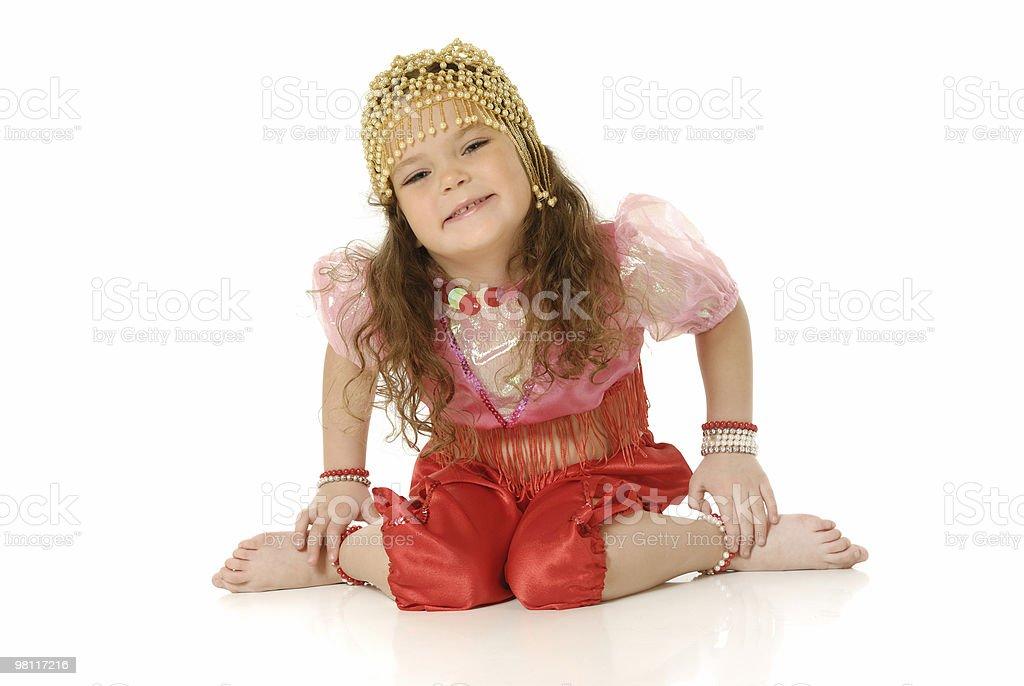 La bambina ballerina danza indiano foto stock royalty-free