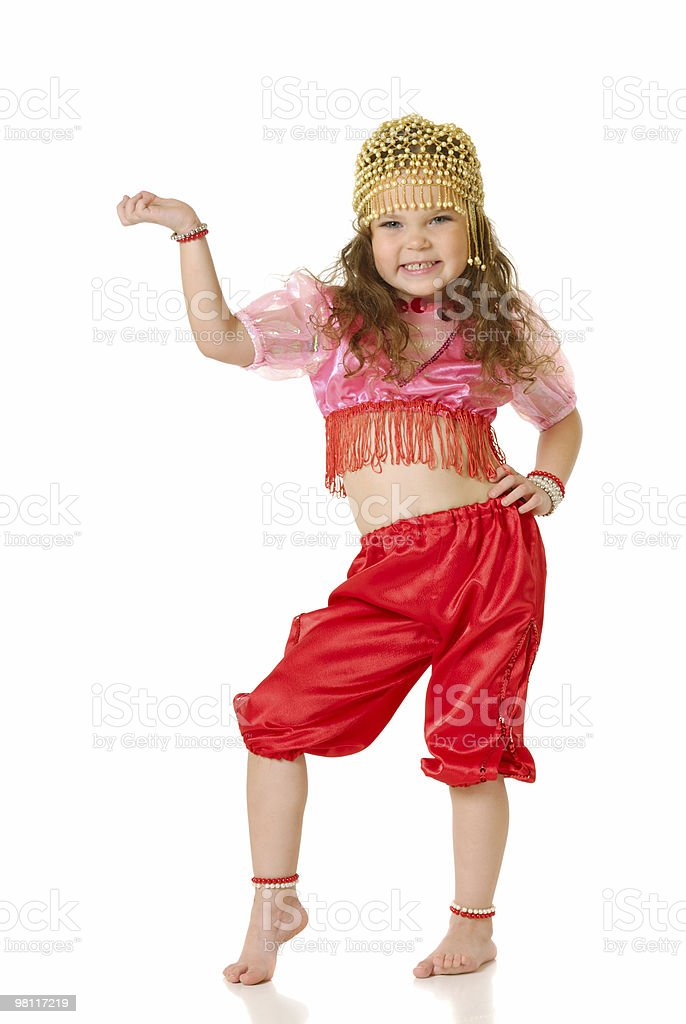 The little girl dances Indian dance royalty-free stock photo