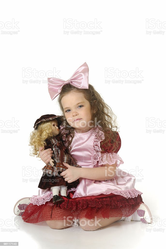 The little girl in a festive attire royalty-free stock photo