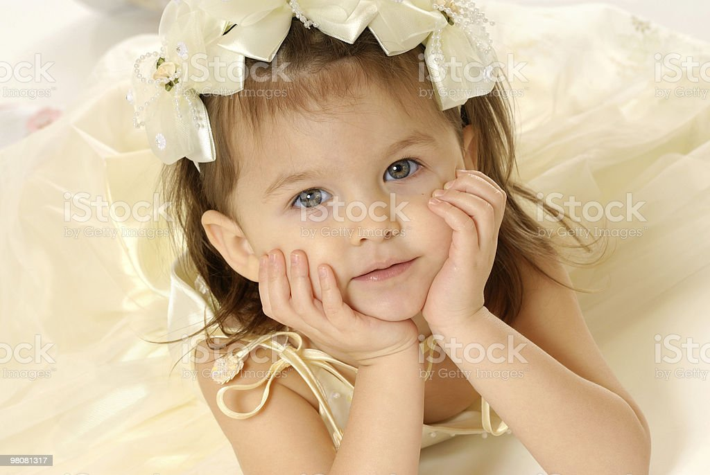 The little girl royalty-free stock photo