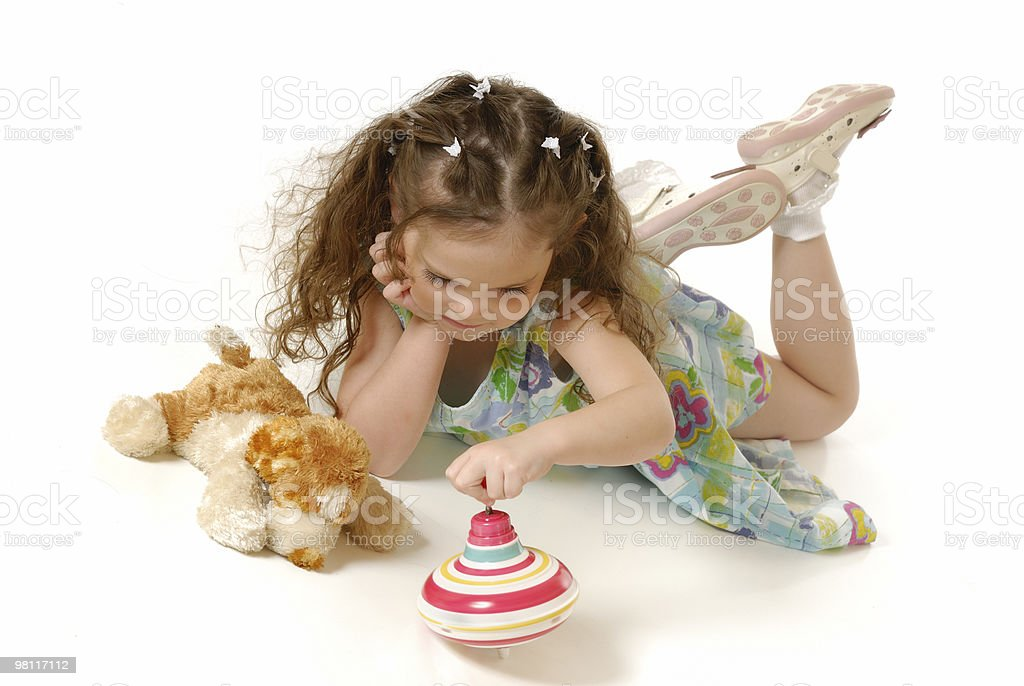 The little girl plays royalty-free stock photo