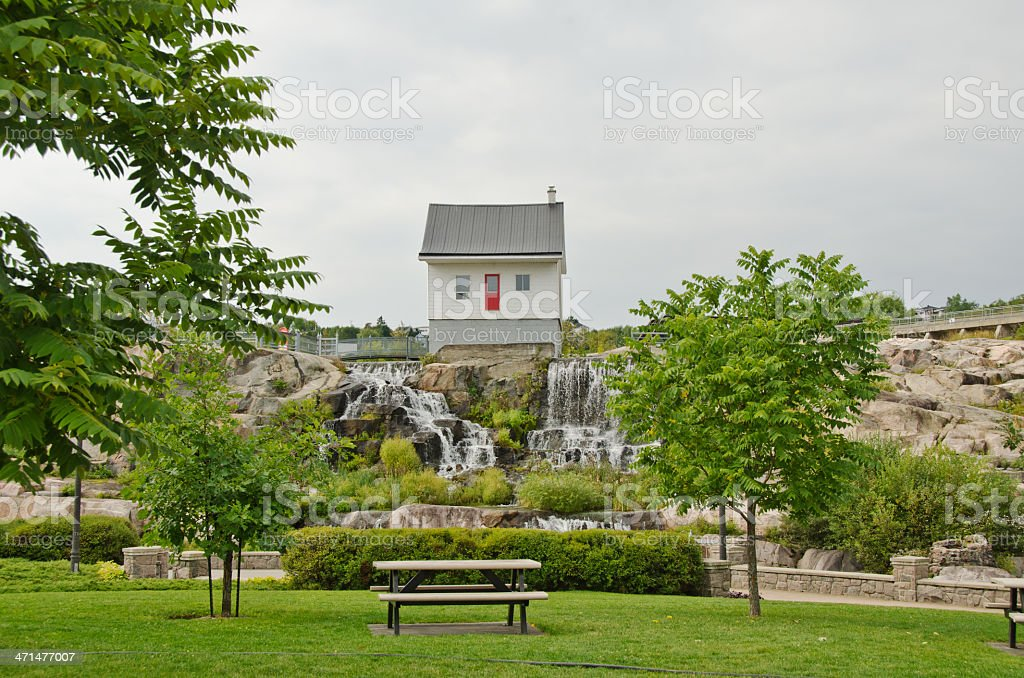 The Little House  in Chicoutimi, Quebec royalty-free stock photo
