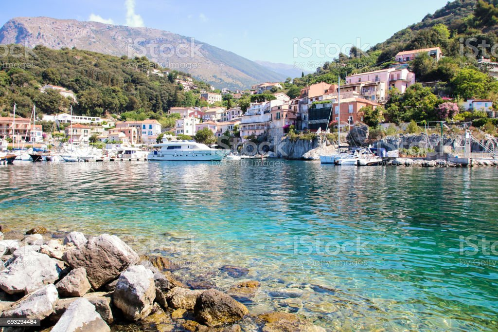 the little port  of Maratea - foto stock