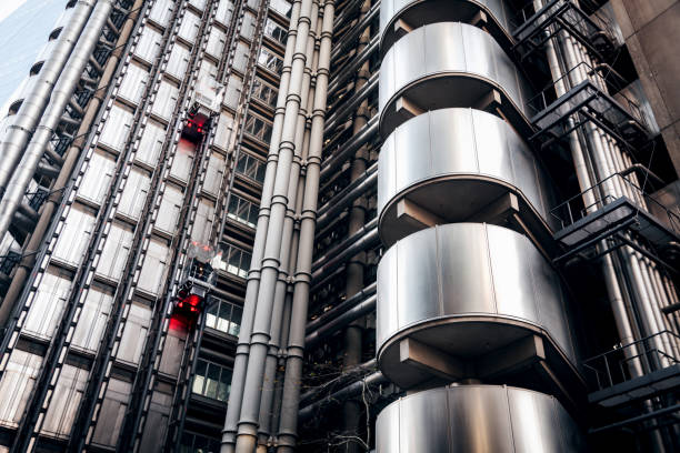 the Lloyds Building in London stock photo