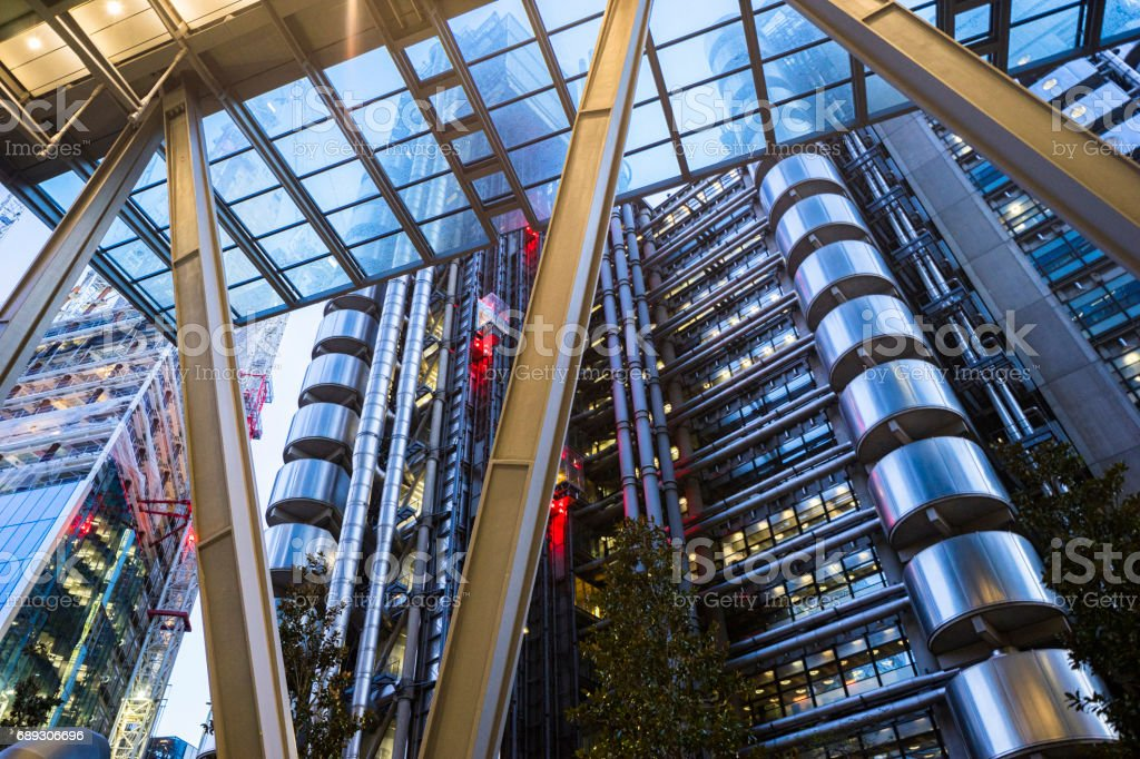 The Lloyds Building & Leadenhall Building, Cityscapes and Architecture, London, England, UK stock photo