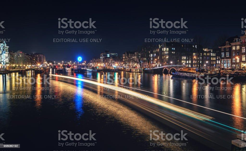 L'écluse de la rivière Amstel à Amsterdam. - Photo