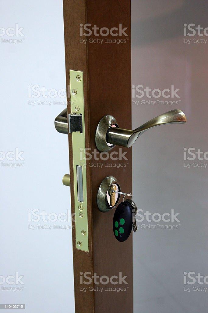 The lock with keys royalty-free stock photo