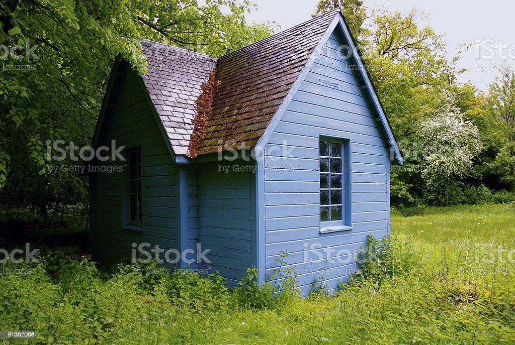 The Lodge  Abandoned Stock Photo