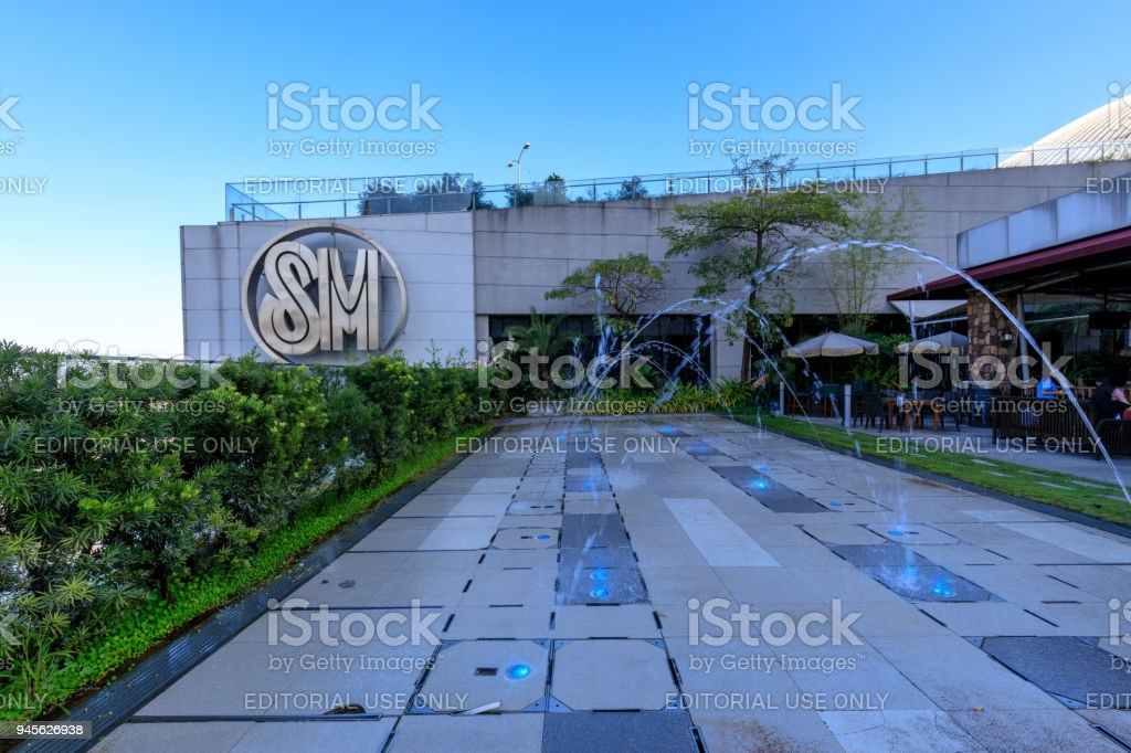 The Logo at SM Aura Premier building, Shopping mall in Taguig, Philippines stock photo