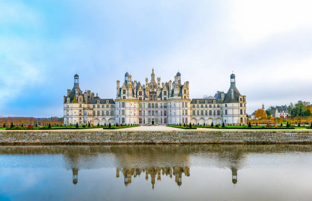 The Loire Valley, castles, landscapes and nature stock photo